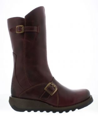 FLY London MES 2 Womens Purple Leather Boots